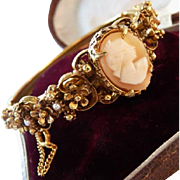 Florenza Victorian real cameo bangle bracelet