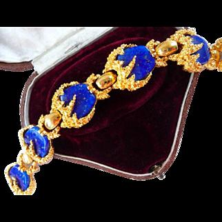 Boucher faux lapis lazuli bracelet