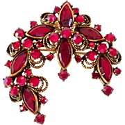 Weiss ruby red pin brooch