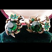 Hollycraft sunflower clip earrings