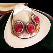 Kaunis Koru Finnish sterling silver brooch pin