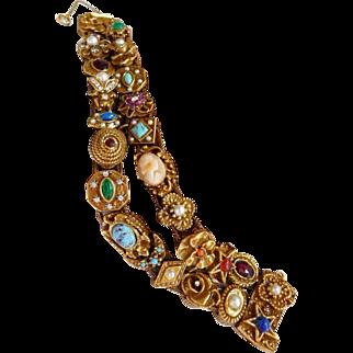 Goldette vintage Victorian slide bracelet