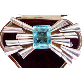 Coro sterling bow pin brooch