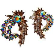 HAR rhinestone clip earrings