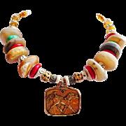 Wild horses Bohemian artisan necklace