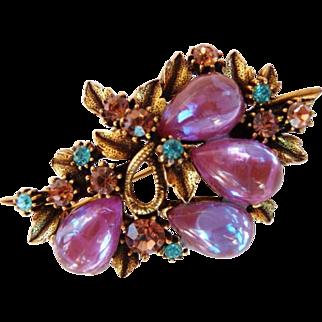 Florenza sappharine saphiret brooch pin