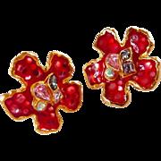 vintage Christian Lacroix Bijoux clip earrings