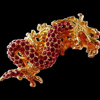 Edgar Berebi Chinese style dragon pin brooch