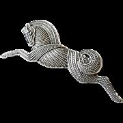 vintage JJ Art Deco style horse pin brooch