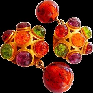 vintage Dominique Aurientis Paris clip earrings