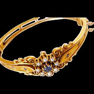 antique Victorian 14K gold child bracelet