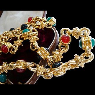 vintage KJL Kenneth J Lane Mughal necklace