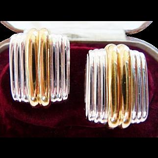 vintage Ciner clip earrings