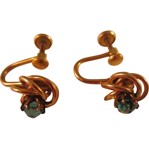 Gold tone bugbee and niles knot screw back earrings for Bugbee and niles jewelry
