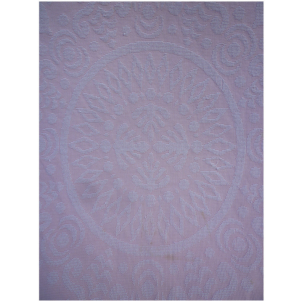 Pink and White Center Medallion Hobnail with Fringe Harmony House Chenille Spread