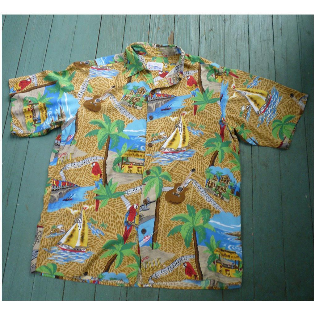 Reyn Spooner Jimmy Buffet Margaritaville Hawaiian Shirt S