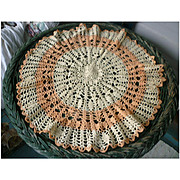 Pretty Peaches and Cream Large Crochet Doily