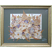 Pressed Dry Spring Flowers Art Framed The Artist & The Gardener