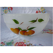 Large Fire King Anchor Hocking Gay Fad Fruits Mixing Bowl