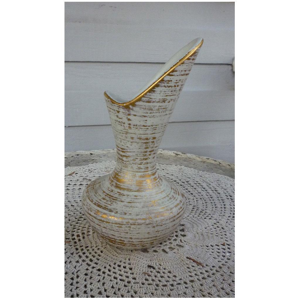 Gold Tweed Glaze Royal Haeger Vase 413 Vintage 1950s