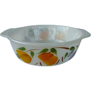 Large Fire King Anchor Hocking Gay Fad Fruits Open Casserole