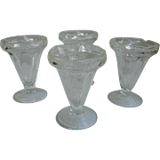 Vintage Soda Fountain Ice Cream Sundae Glasses