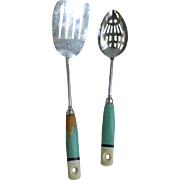A & J Ekco Slotted Spoon and Spatula Set