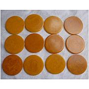 Butterscotch Swirl Bakelite Poker Chips Set