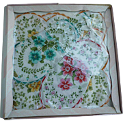 Floral Group of 4 Vintage Handkerchiefs in Original Box