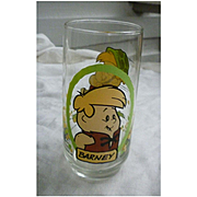 Vintage 1986 Flintstones Kids Barney Pizza Hut Glass