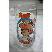 Vintage 1986 Flintstones Kids Wilma Pizza Hut Glass