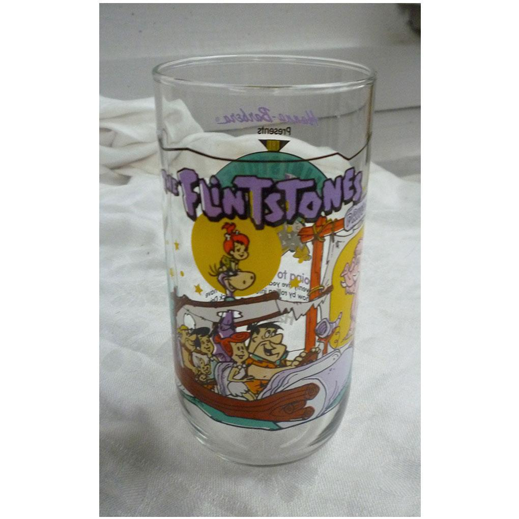 Flintstones Hardees The First 30 Years - 1964 'Going to the Drive In' Glass