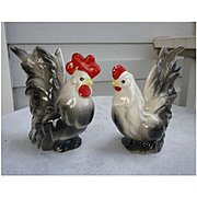 Distinctive Vintage Rooster and Hen Figurines