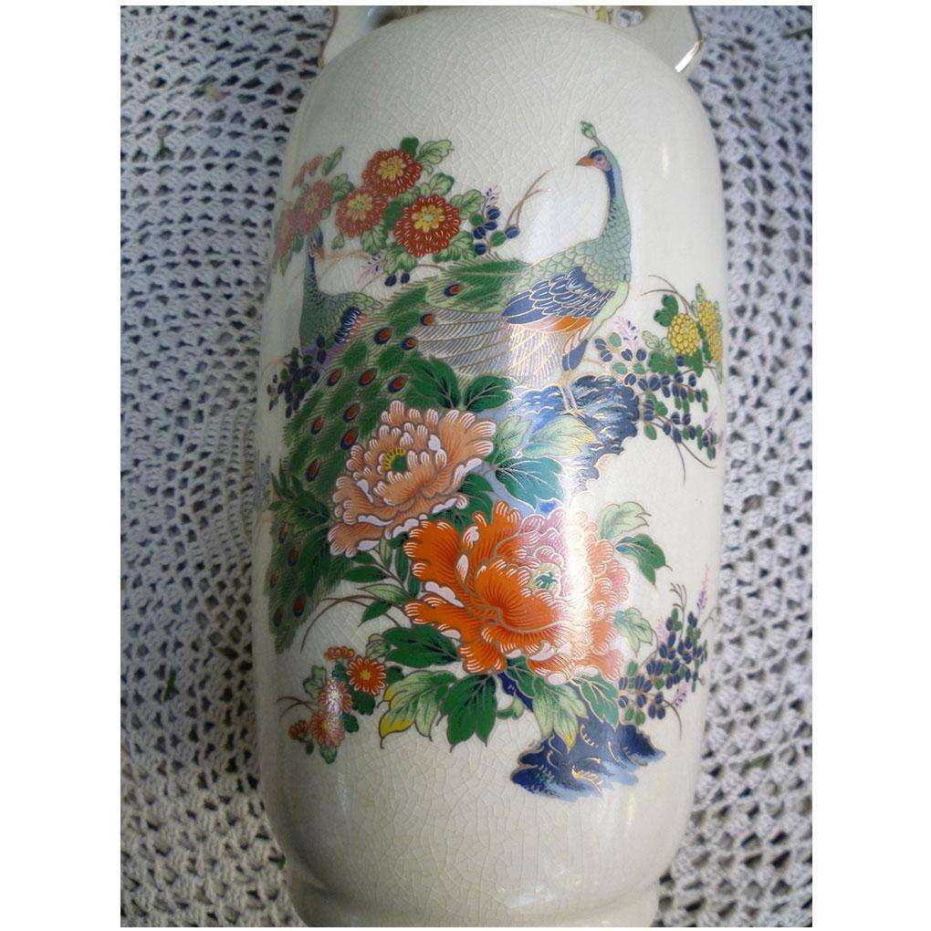 Large japan satsuma style vase peacocks and chrysanthemums from roll over large image to magnify click large image to zoom reviewsmspy