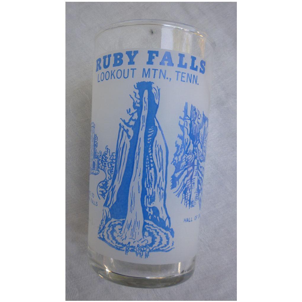 Ruby Falls Lookout Mtn Tenn Souvenir Glass