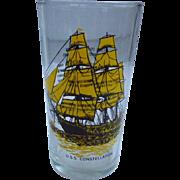 USS Constellation Baltimore Maryland Souvenir Glass