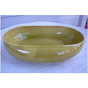Chartreuse Russell Wright American Modern Vegetable Serving bowl.  Stubenville 1939 – 1959 production