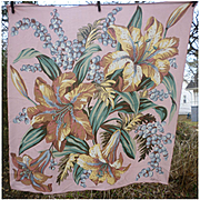 Large Colorful Oriental Lilies Ralph Lauren Scarf