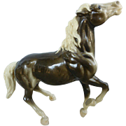 Diablo Glossy Charcoal and White Breyer Horse Mustang Mold # 87