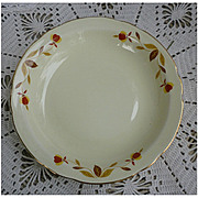 Hall Jewel Tea Autumn Leaf Flat Rim 8 ½ inch Soup Bowl