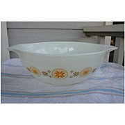 Pyrex Town and Country 4 Quart Cinderella Mixing Bowl 444 Original Pattern