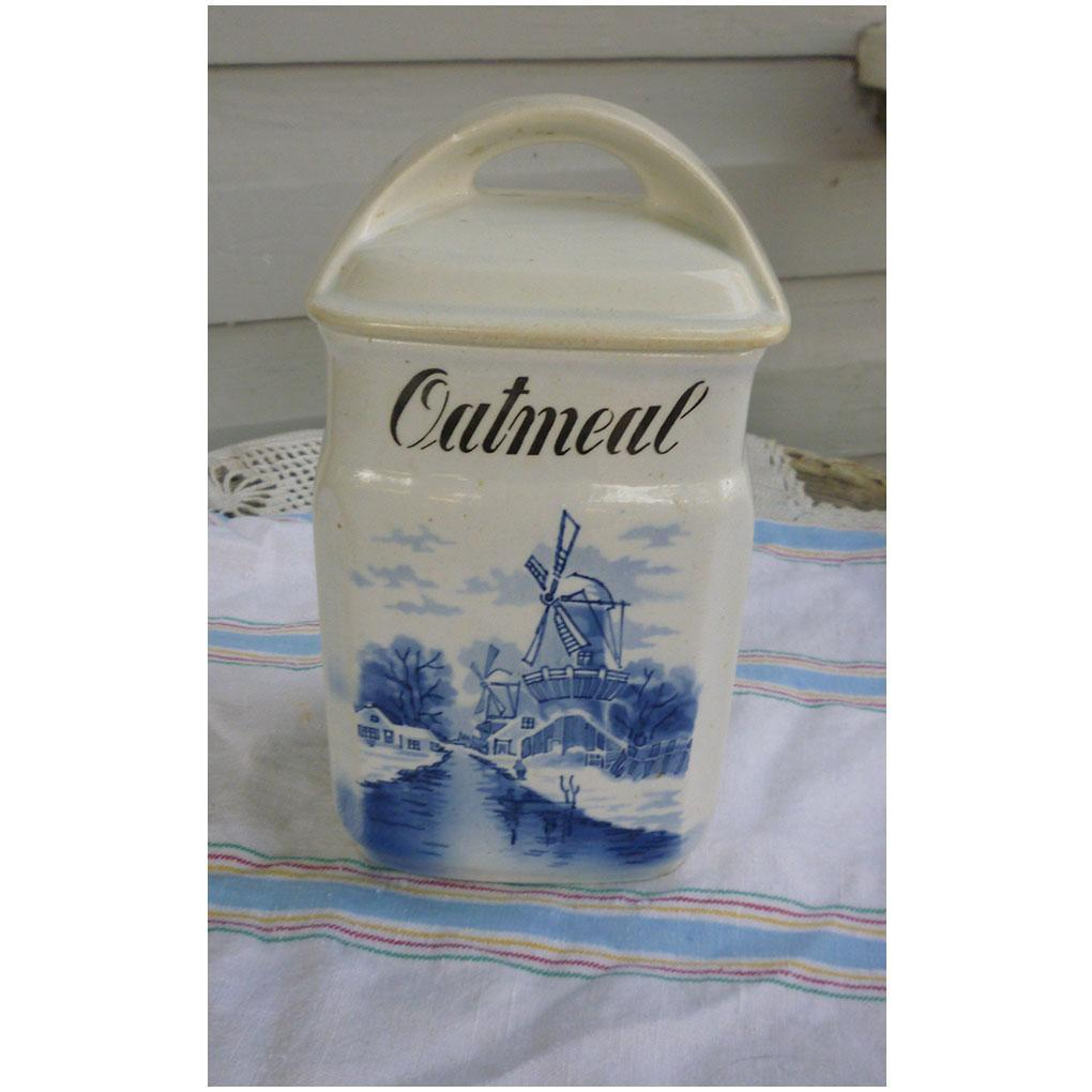 Inge Germany Delft Blue and White Oatmeal Canister with Lid 3862 from ...