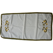 Metallic Gold and Yellow Embroidered Runner