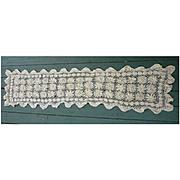 Elaborate Creamy Crochet Floral Runner