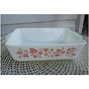 Pyrex Pink Gooseberry Large Leftover Refrigerator Dish No Lid 0503