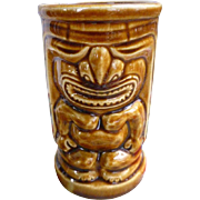 Orchids of Hawaii Sweet Leilani Brown Vintage Tiki Mug