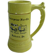 Enterprise Fire Co PA Large Stein Mack Pumper 1975