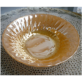 Anchor Hocking Fire King Peach Luster Swirl Bowl