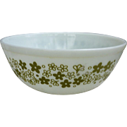 Pyrex Spring Blossom Green Beaded Edge 4Qt Nested Mixing Bowl 404