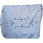 Applique and Embroidered Calla Lilies Tablecloth